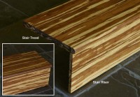 Bamboo Flooring Stair Tread & Riser: Fossilized Marbled