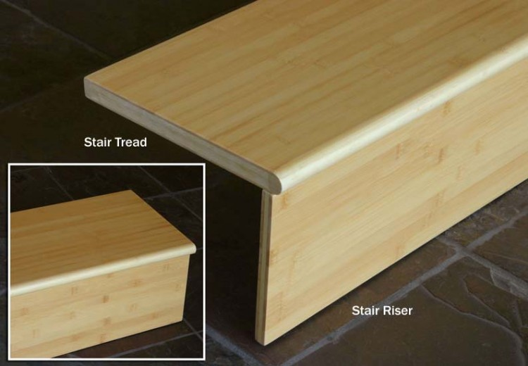 Bamboo Flooring Stair Tread & Riser: Organic Natural
